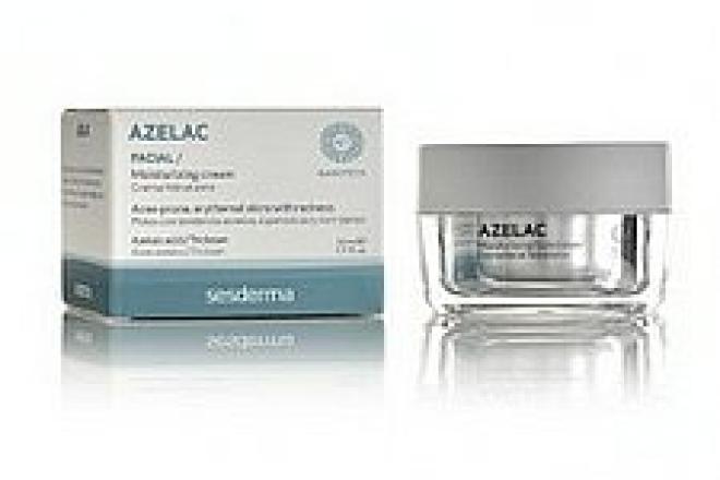 Sesderma  AZELAC Sesderma krem nawilżajacy do twarzy z trądzikiem różowatym 50ml Крем и препараты для проблемной кожи --//-- оптом