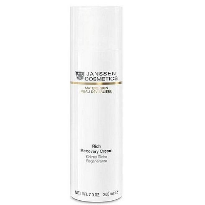 Janssen Cosmetics  Krem Janssen (1120p) regenerujący i do masażu Rich Recovery Cream Mature Skin do skóry dojrzałej 200ml Крем ночной --//-- оптом