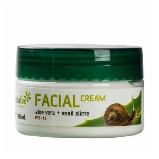 Tabaiba  Krem  regenerująco odmładzający do twarzy z aloesem i wyciągiem ze śluzu ślimaka Tabaiba Facial Cream Aloe Vera Snail Slime 100ml Крем универсальный --//-- оптом