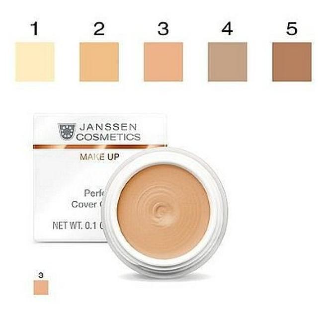 Janssen Cosmetics  Kamuflaż Janssen (840.03) Perfect Cover Cream 03 wodoodporny korektor 5ml Макияж - лицо --//-- оптом