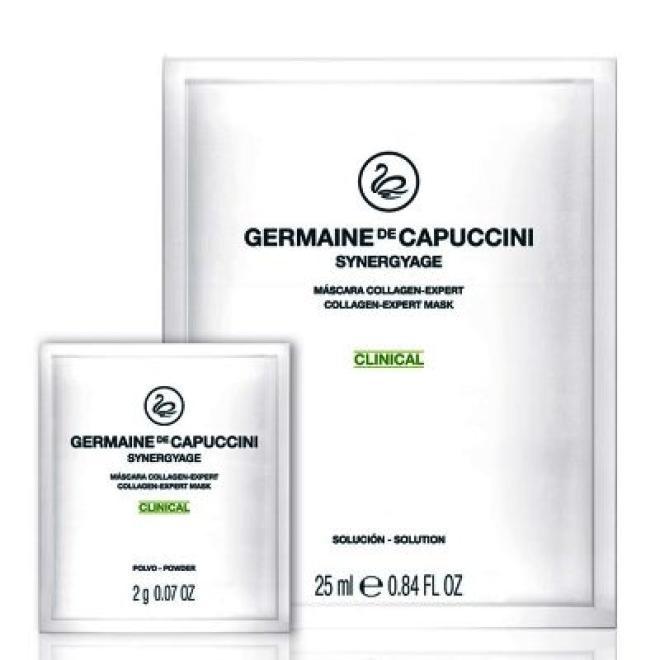 Germaine de Capuccini  Maska Germaine de Capuccini Synergyage COLLAGEN EXPERT MASK dwuskładnikowa łagodząca kolagenowa 12 sztuk Маски отшелушивающие с водорослей --//-- оптом