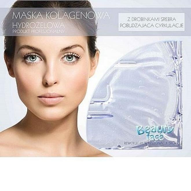 Beauty Face  Maska na twarz z diamentami i drobinkami srebra kolagenowa antybakteryjna odżywcza Маски коллаген кристаллический --//-- оптом