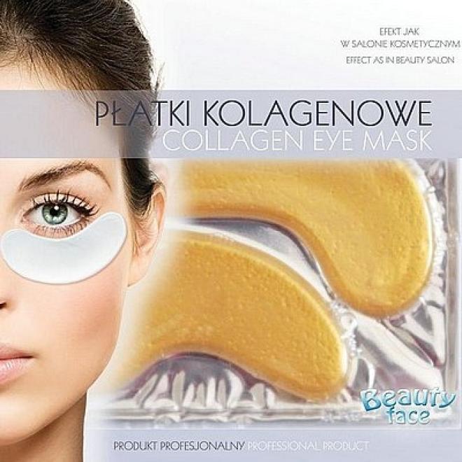 Beauty Face  Płatki pod oczy przeciwzmarszczkowe ze złotem Маски коллаген кристаллический --//-- оптом