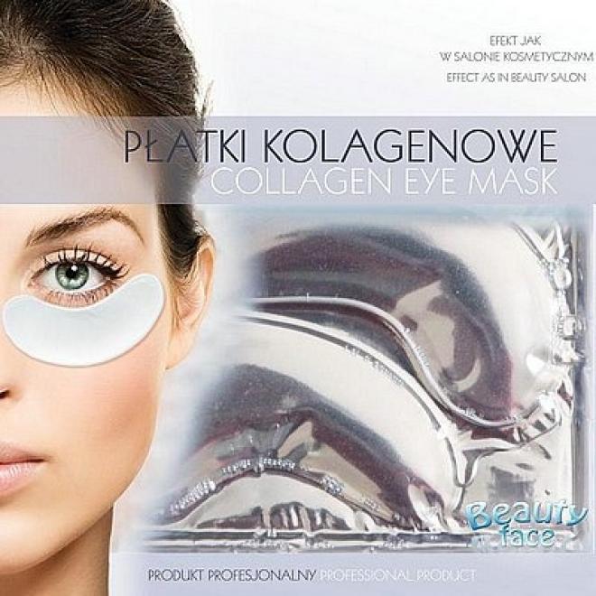 Beauty Face  Płatki pod oczy wygładzające przeciw opuchliźnie Маски коллаген кристаллический --//-- оптом