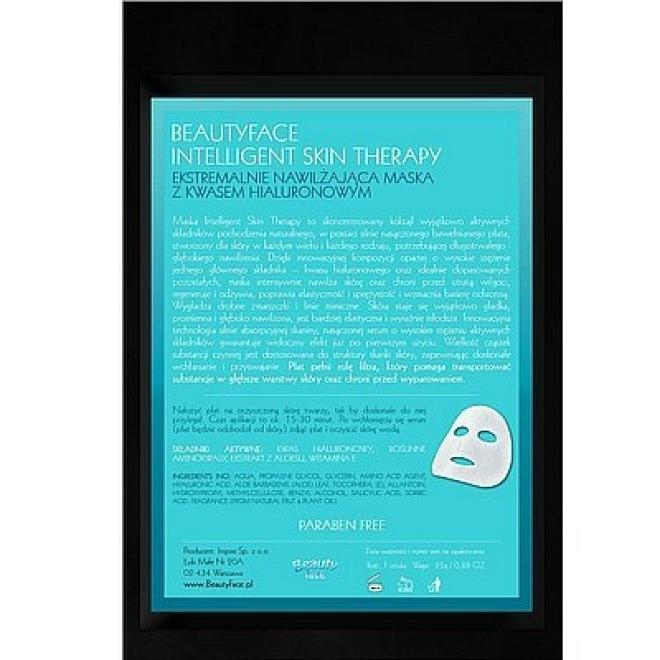 Beauty Face  Maska ekspresowa KWAS HIALURONOWY ekstremalnie nawilżająca z aloesem i wit.E INTELLIGENT SKIN THERAPY Маски тканевые --//-- оптом
