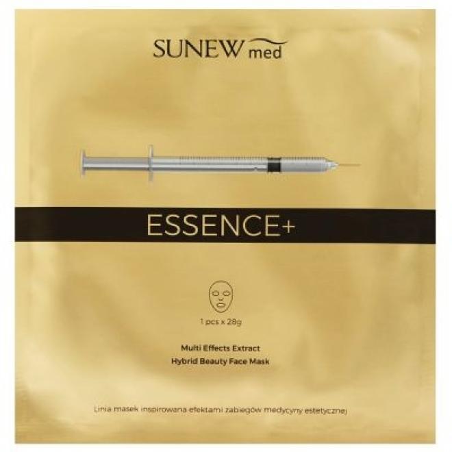 Sunew  Maska hybrydowa z peptydami i śluzem ślimaka Intensywnie odmładzająca Essence+ Hybrid Beauty Face Mask Sunew Med 1 płat 28 g Маски тканевые --//-- оптом