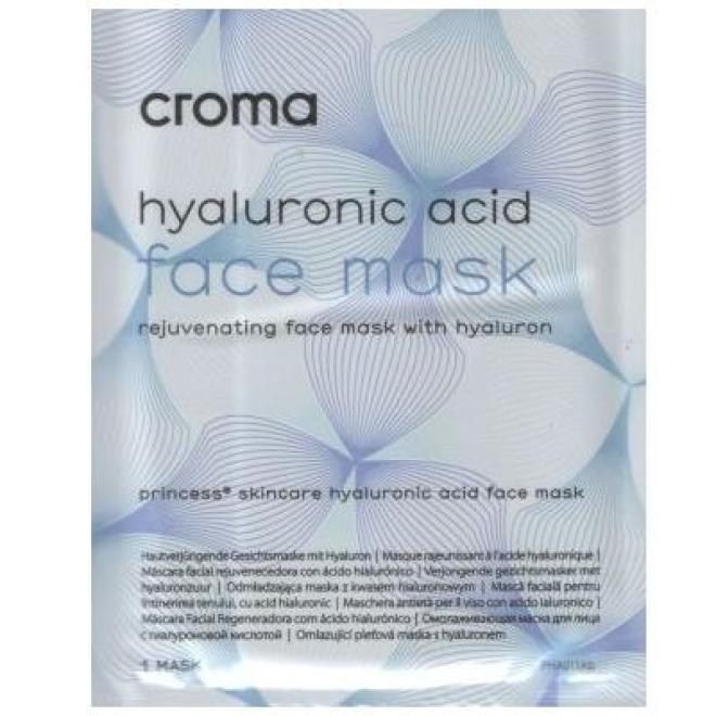 Croma  Maska Princess Skincare Hyaluronic Acid Face Mask pozabiegowa odświeżająca odwodnioną skórę Croma 1 x 28 g Маски тканевые  оптом