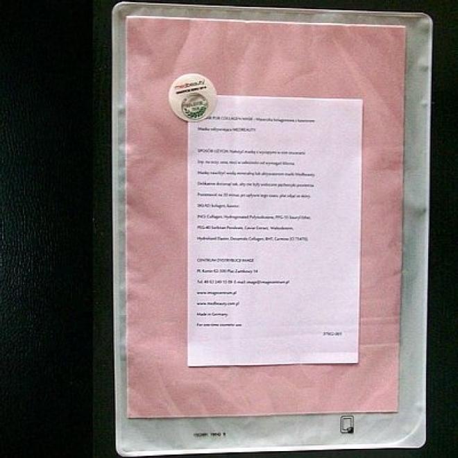 Medbeauty  Płat kolagenowy suchy CAVIAR kojący, regenerujący Maska Matricol Medbeauty 1 sztuka Маски тканевые  оптом