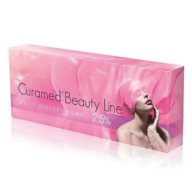 Curamed  Kwas Hialuronowy nieusieciowany Curamed Beauty Line 2,5% Curamed 1.5ml Медицина эстетическая - наполнители   оптом