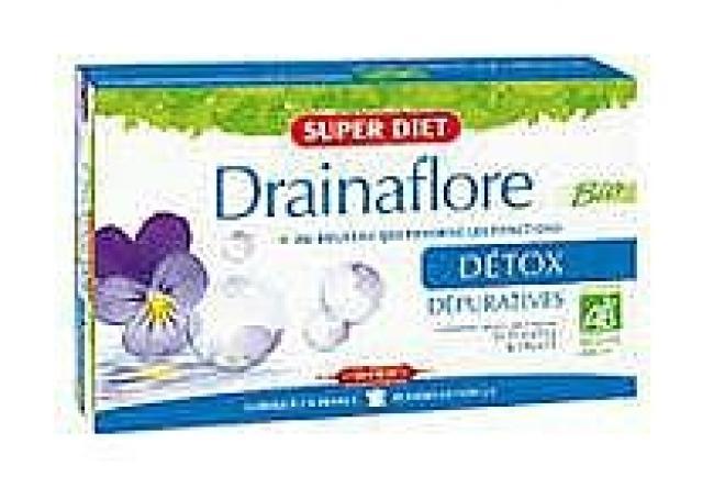 Super Diet  Super Diet DETOX DRAINAFLORE preparat oczyszczający, detoksykujący i regenerujący 20x15ml Биодобавки  оптом