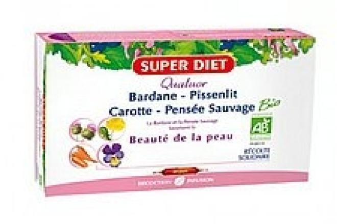Super Diet  Super Diet PIĘKNA I CZYSTA SKÓRA bratek, łopian, mniszek lekarski, marchew 20 x15ml Биодобавки --//-- оптом