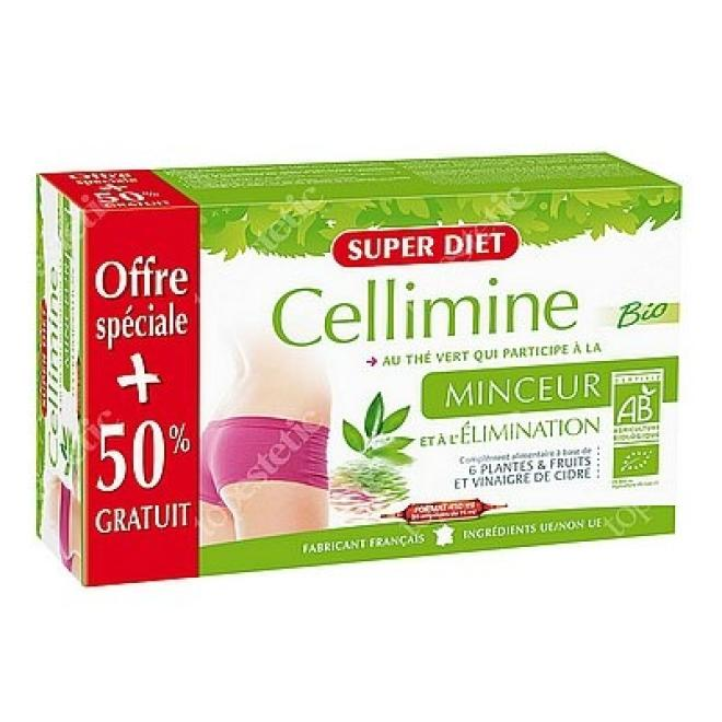Super Diet  Super Diet Slimming CELLIMINE preparat wyszczuplający i detoksykujący 30 x 15ml Биодобавки --//-- оптом