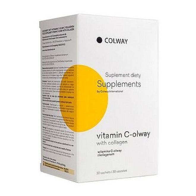 Colway  Witamina C z kolagenem Colway Vitamin C-olway with Collagen suplement diety 30 saszetek Биодобавки  оптом