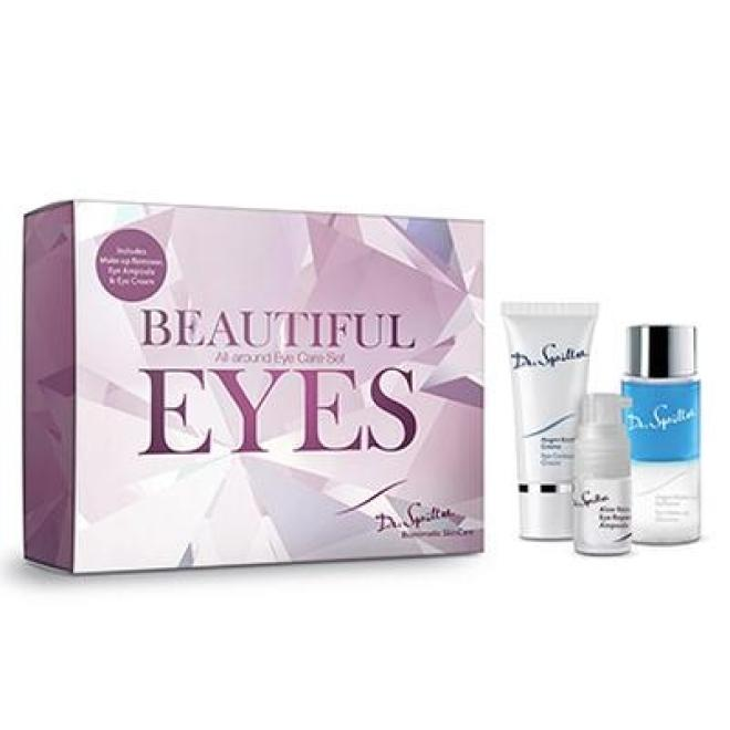 Dr.Spiller  Zestaw Dr.Spiller Beautiful Eyes pielęgnacja okolic oczu Krem 60 ml + Ampułka 5 ml + Płyn do demakijażu 60 ml Наборы косметики  оптом