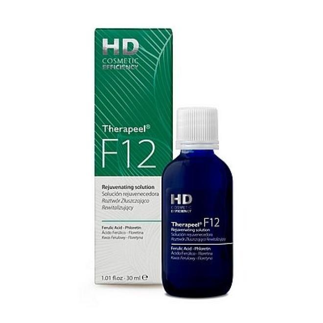 HD Cosmetic Efficiency  Roztwór Złuszczająco - Rewitalizujący HD Therapeel F12 Rejuvenating solution redukujący przebarwienia 30 ml Медицинские кислоты и пиллинг --//-- оптом