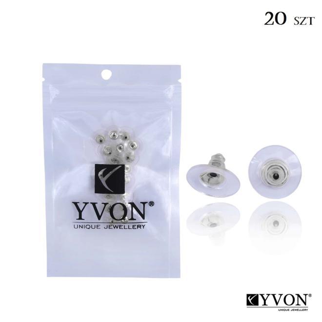 YVON  Stopery srebrne_ST001 Упаковки  оптом