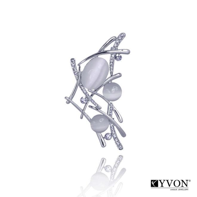 YVON  Broszka z kamieniem kwarcowym BR02633 Брошки  оптом