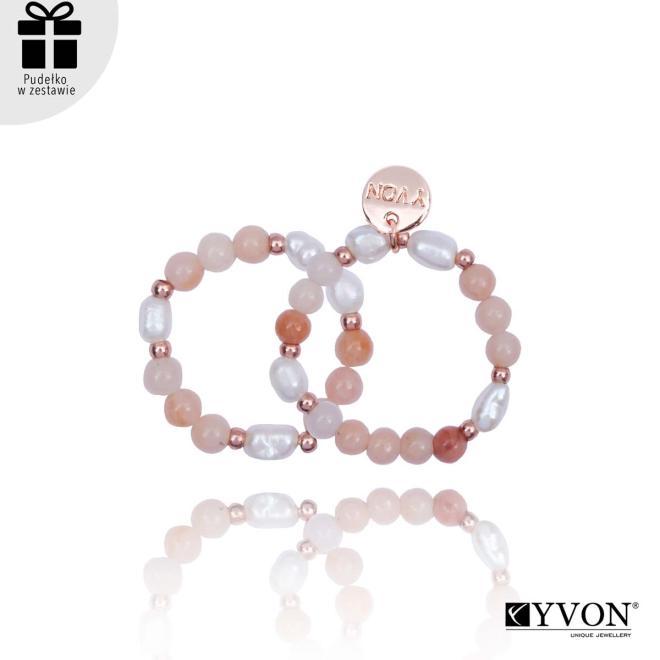 YVON  Pierścionki pozłacane z kamieni naturalnych R02141 Перстни  оптом