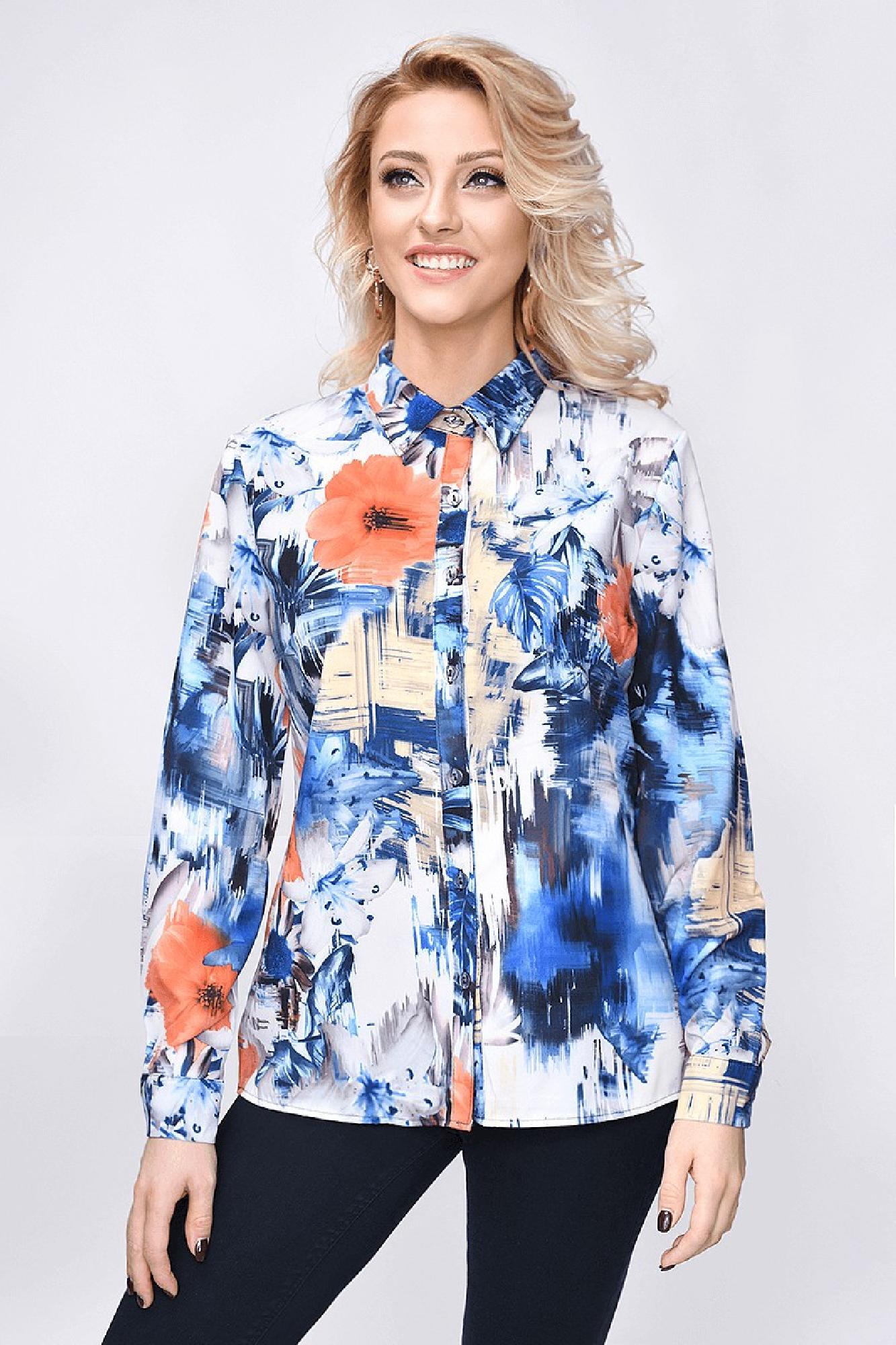 VITESI  3196F-8 Блузка Многоцветный оптом