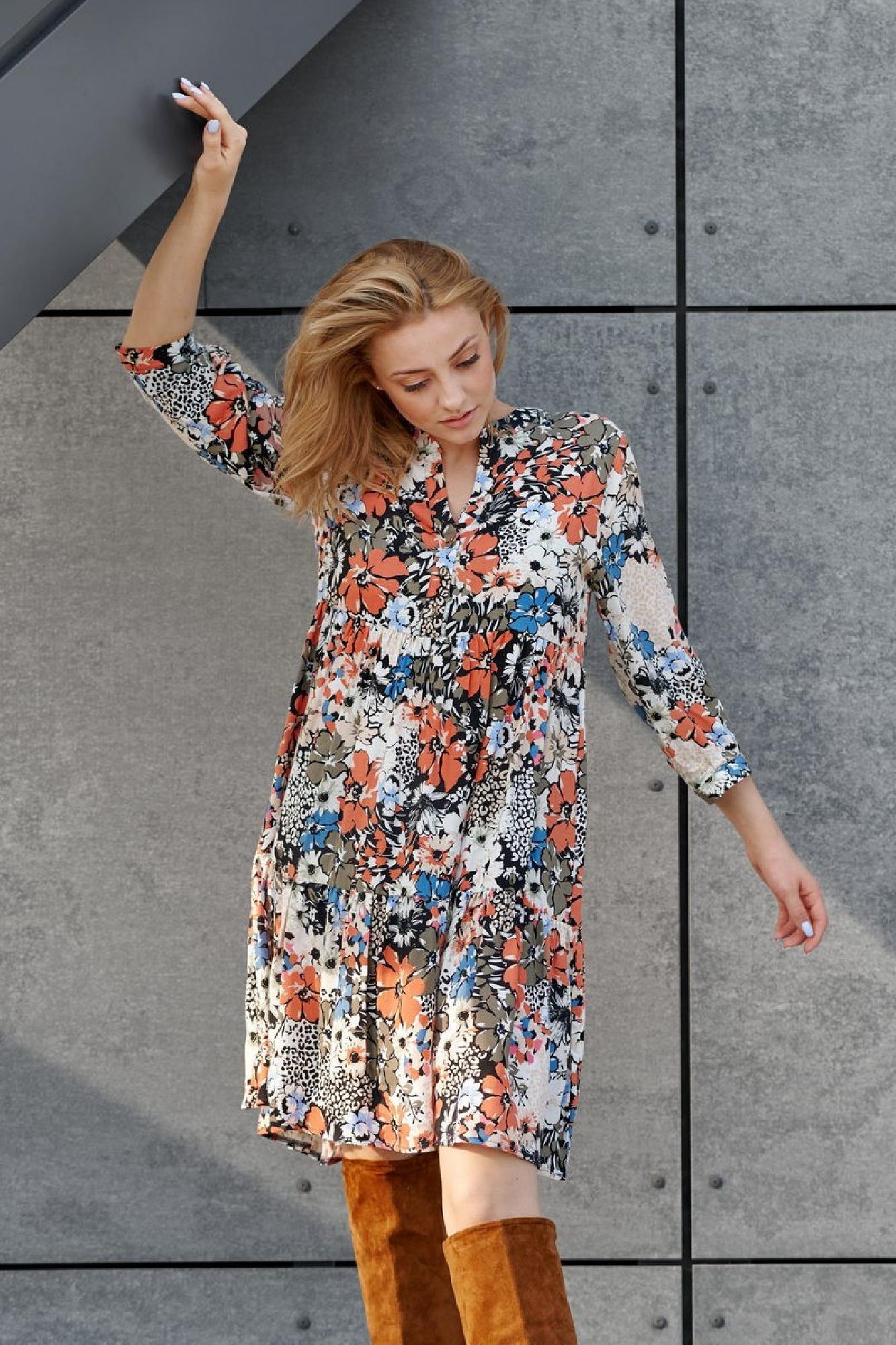 VITESI  02124-JZ22_5 Платье Многоцветный оптом