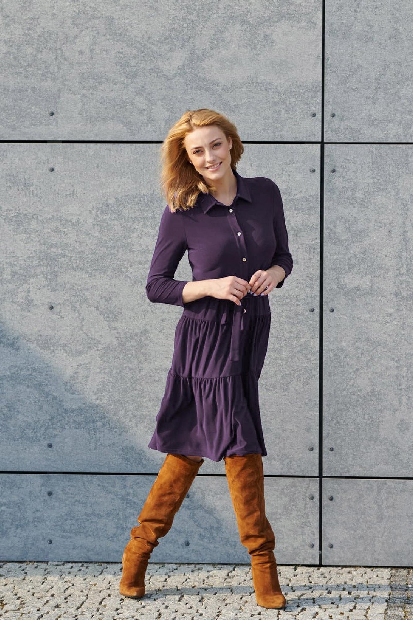VITESI  02220-JZ22_5 Платье Фиолетовый оптом