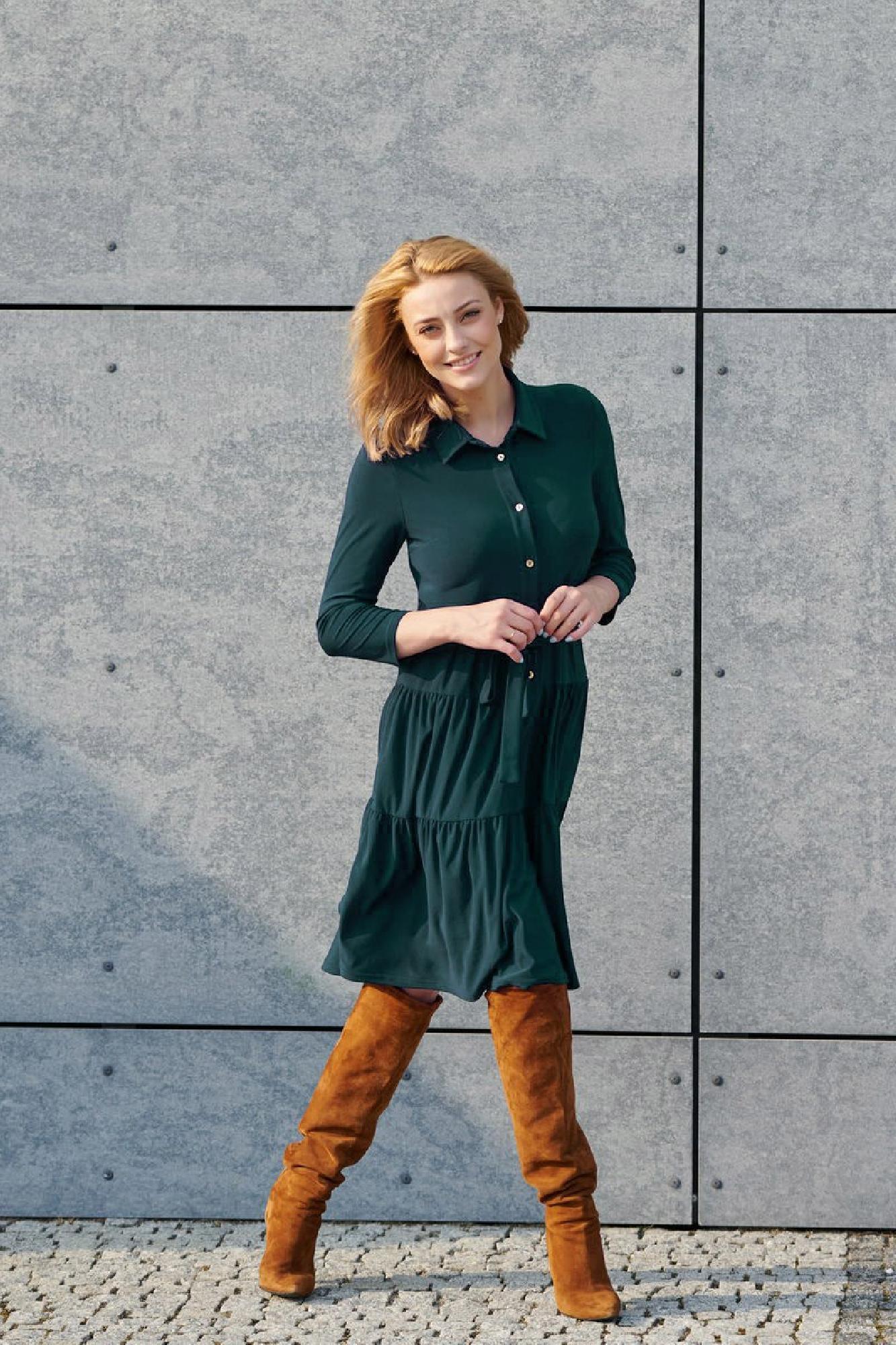 VITESI  02220-JZ22_4 Платье зеленый оптом