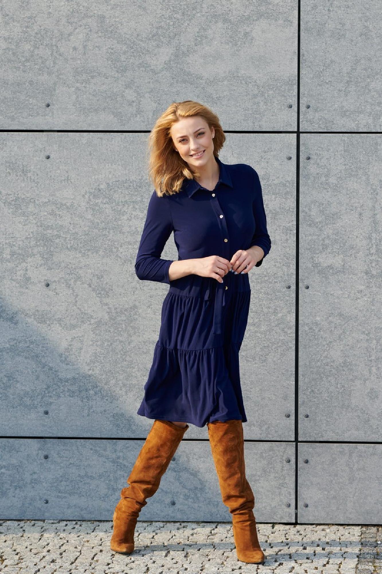 VITESI  02220-JZ22_1 Платье Голубой оптом