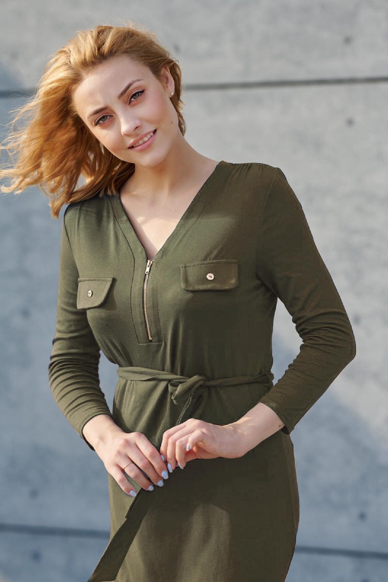 VITESI  02218-JZ22_4 Платье зеленый оптом
