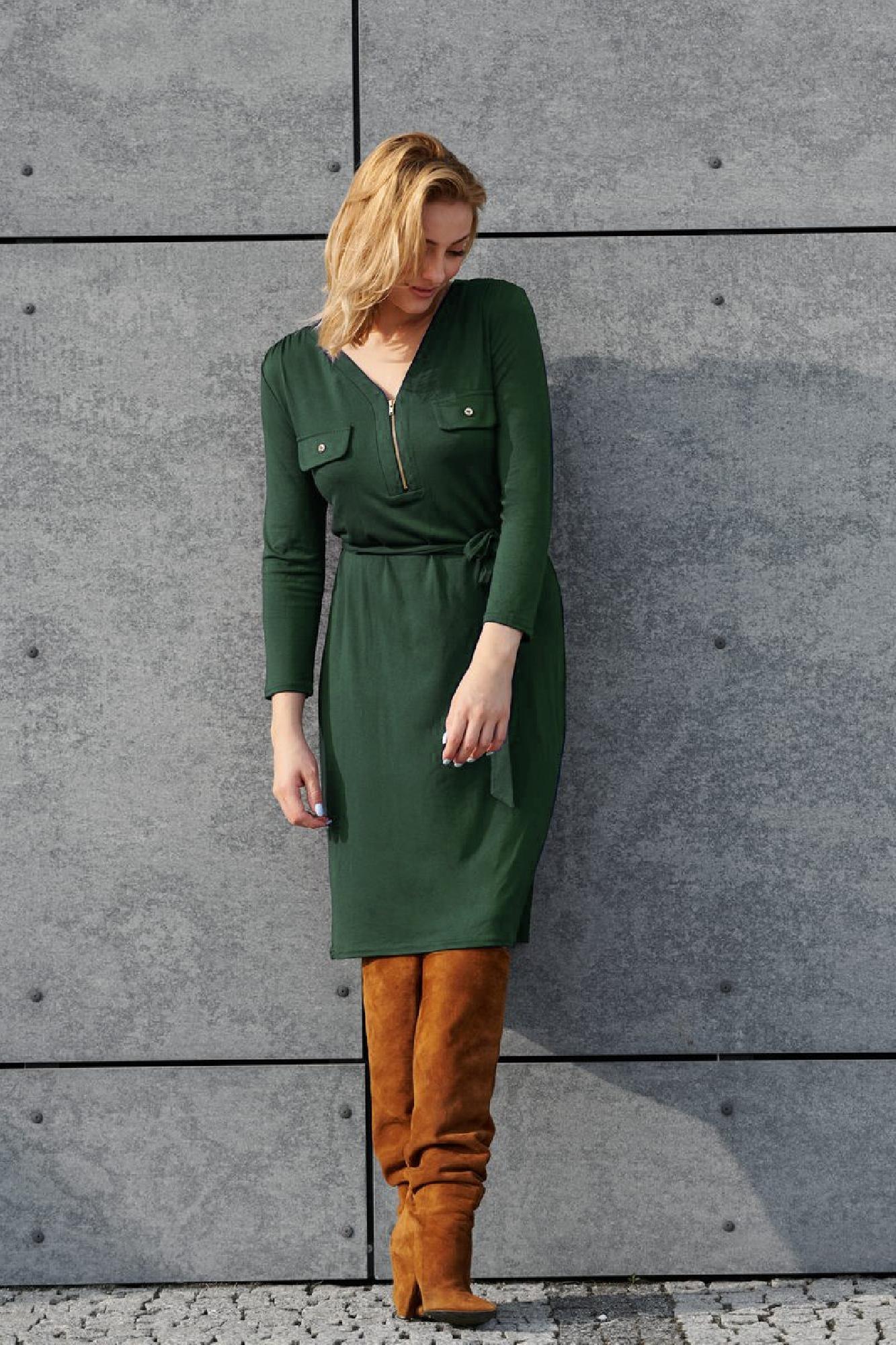 VITESI  02218-JZ22_3 Платье зеленый оптом