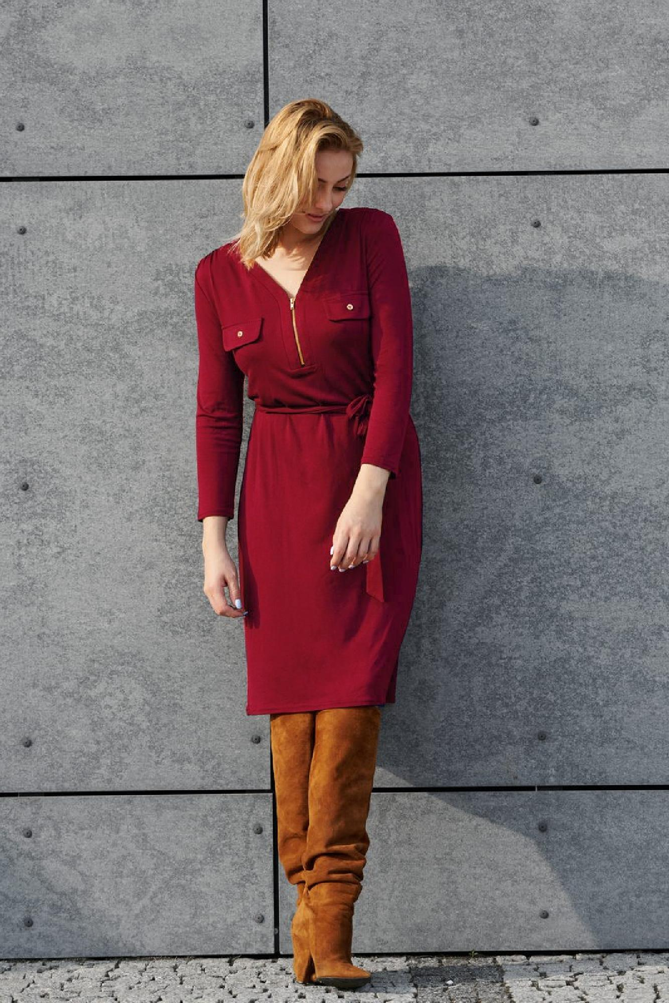 VITESI  02218-JZ22_2 Платье красный оптом