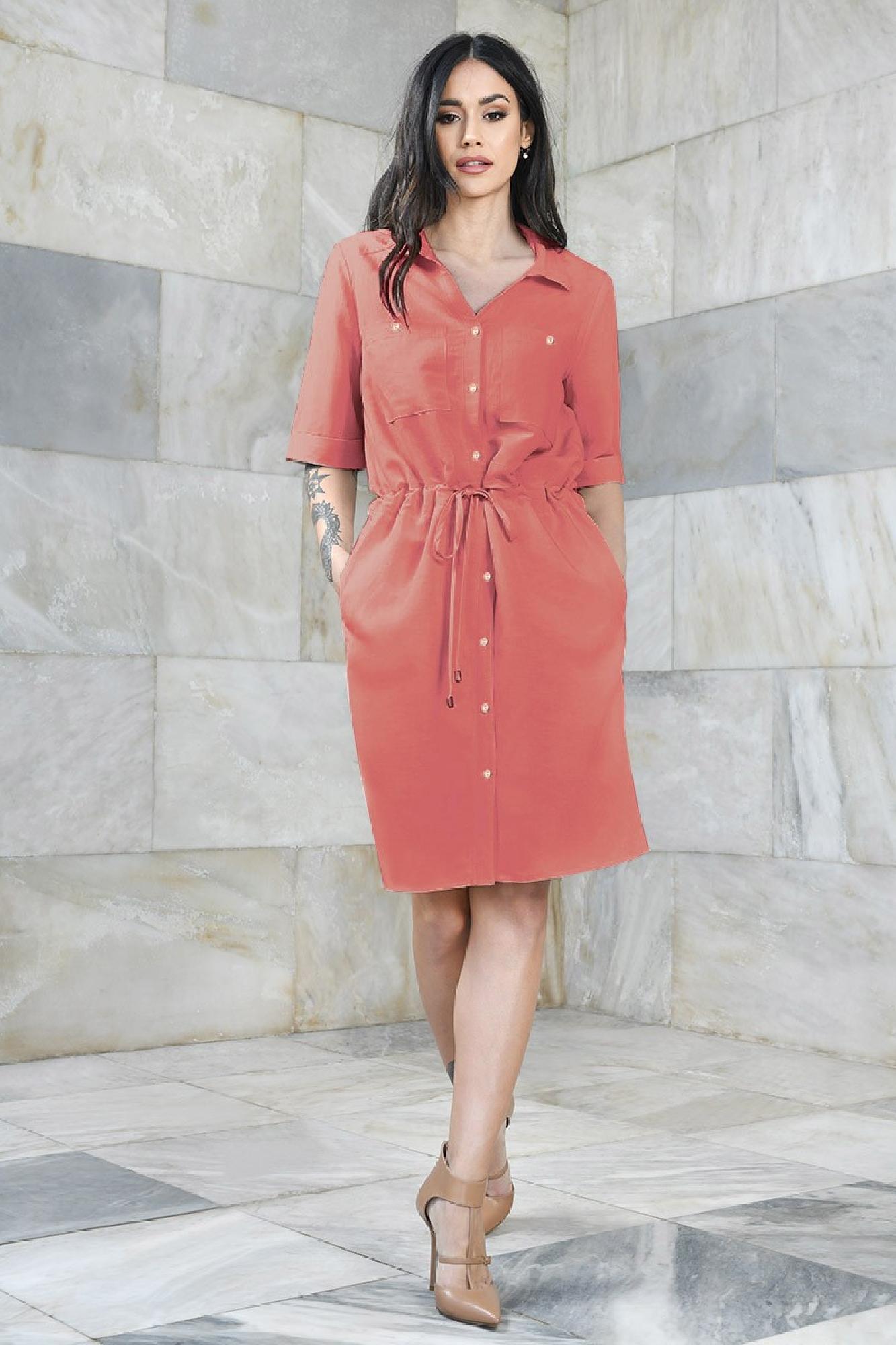 VITESI  02113-WL21/07 Платье Розовый оптом
