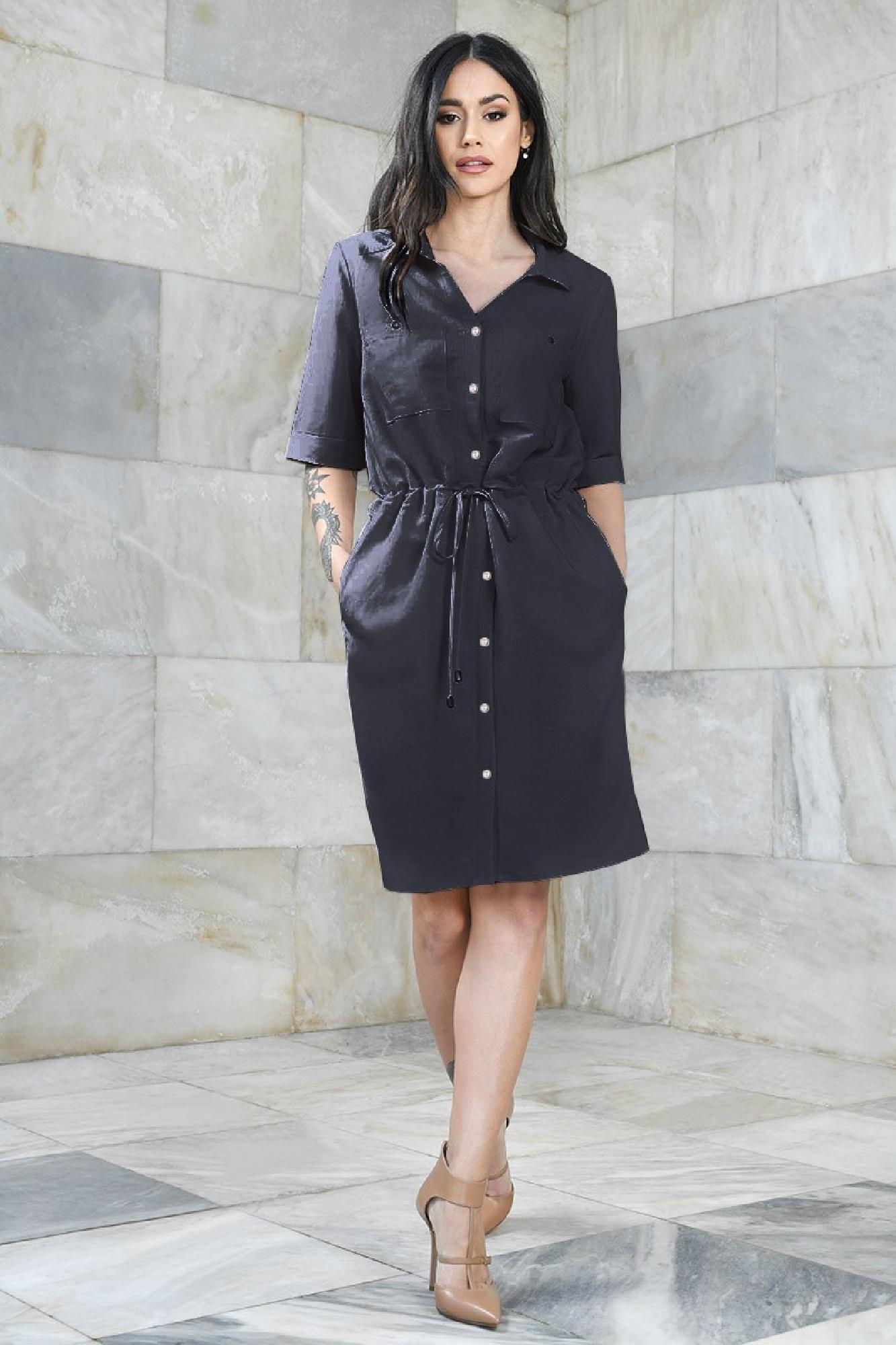 VITESI  02113-WL21/08 Платье Голубой оптом