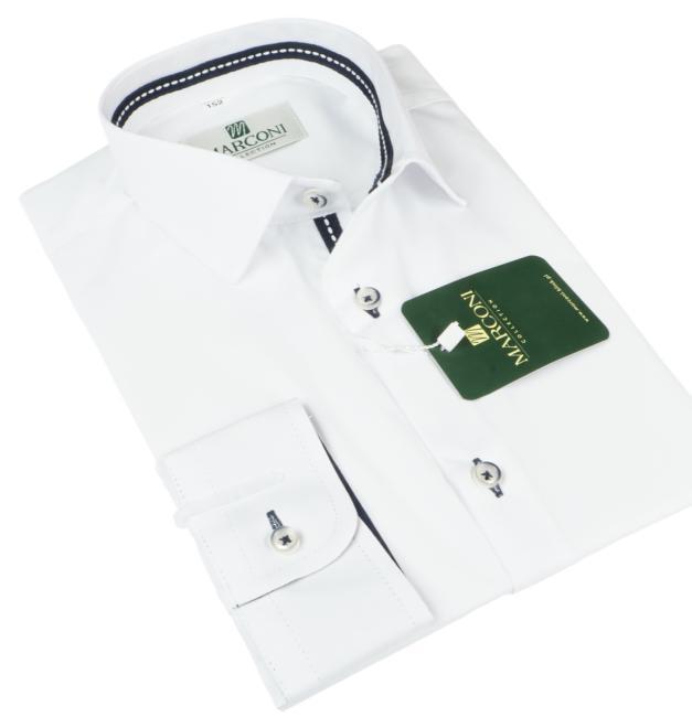 Marconi  1068 TF Рубашка для мальчиков biała-tasemka granatowa оптом