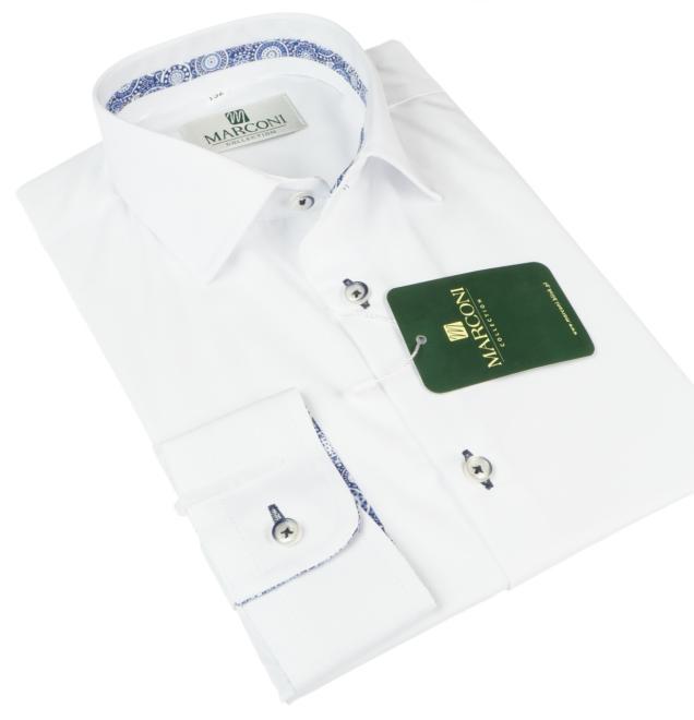 Marconi  1068 LM Рубашка для мальчиков biała-tasemka niebieska оптом