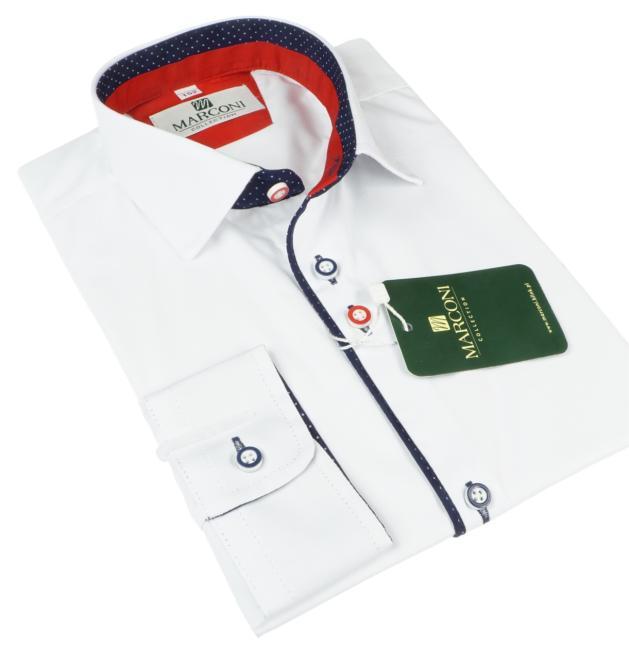 Marconi  1068 MAX Рубашка для мальчиков Белый оптом