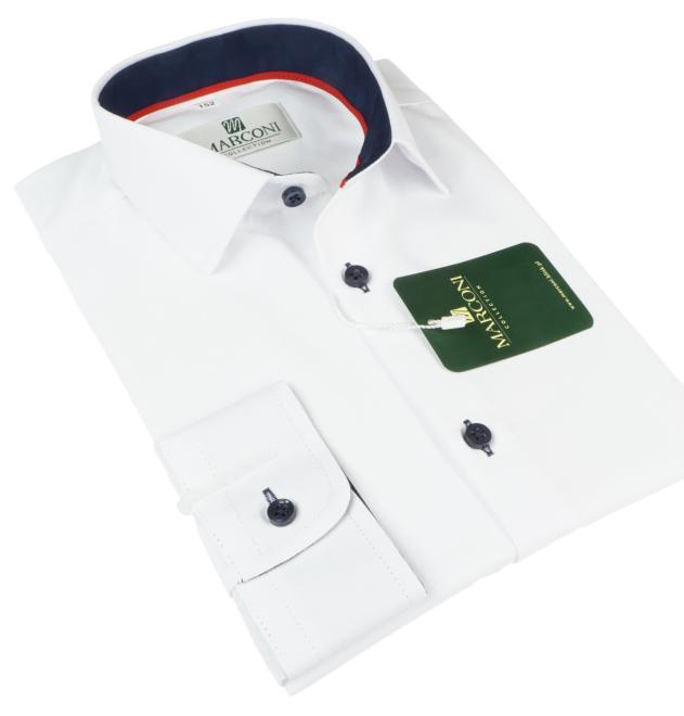 Marconi  95 SM Рубашка для мальчиков biała-wyk.granat оптом