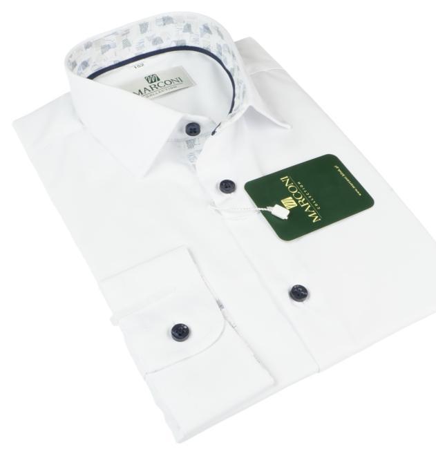 Marconi  1068 PSM Рубашка для мальчиков biała-motyw jasny оптом