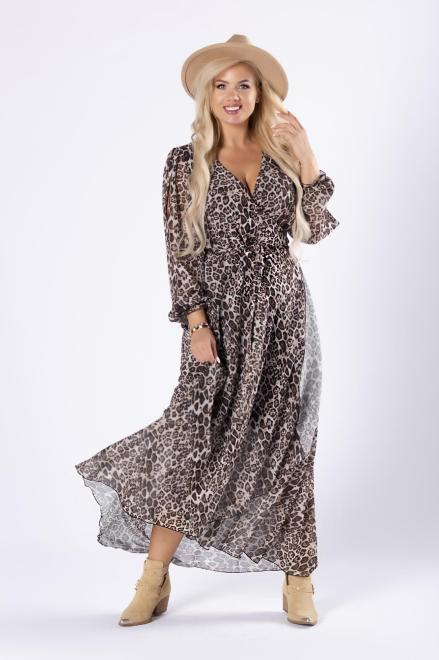 EXCLUSIVE  kopertowa sukienka maxi z rozcięciami na ramionach M81635 Платье Multikolor оптом
