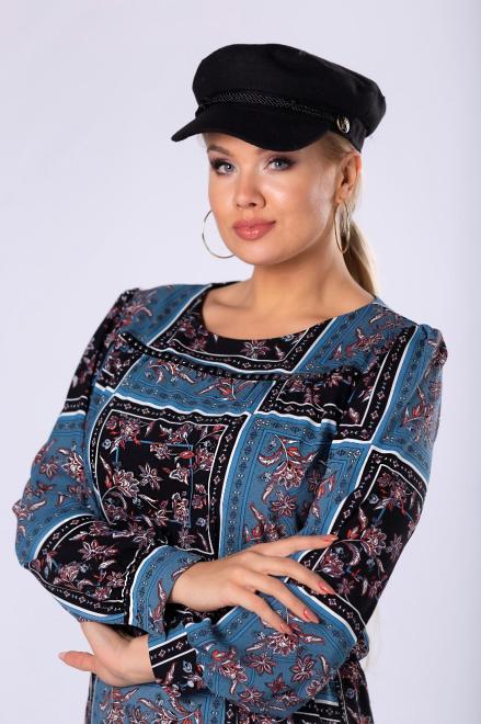 BODOO  wzorzysta sukienka z gumką w pasie, bufiastymi rękawami i błyszczącymi aplikacjami M81369 Платье Multikolor оптом