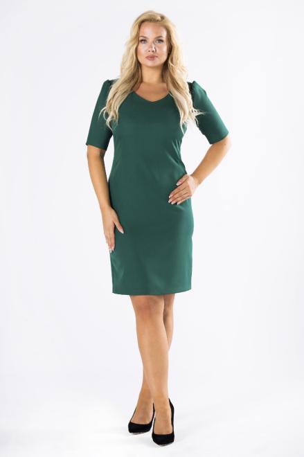 DARTEX  dopasowana sukienka z bufkami na ramionach M80623 Платье Зеленый оптом