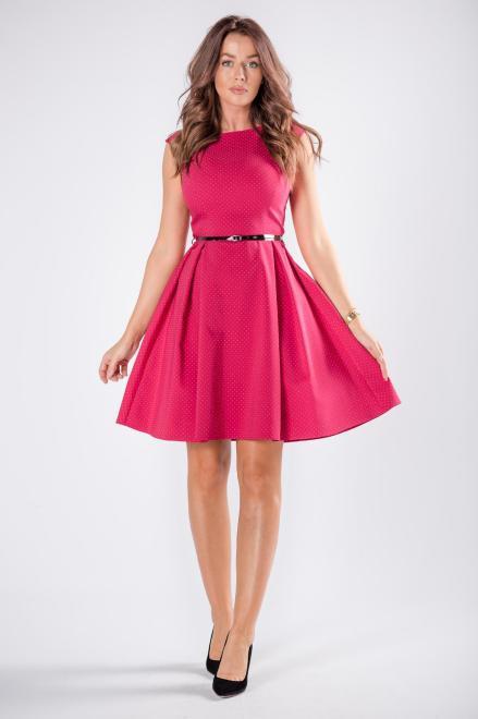 DARTEX  rozkloszowana sukienka w kropki M73257 Платье Розовый оптом