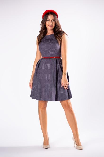 DARTEX  rozkloszowana sukienka w kropki M73257 Платье Серый оптом