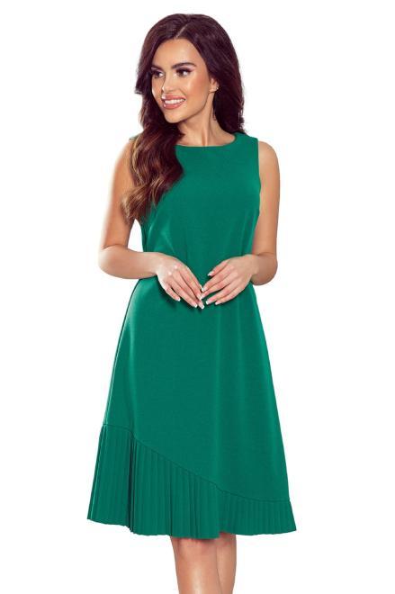 Numoco  koktajlowa sukienka z plisowanym dołem M78661 Платье Зеленый оптом