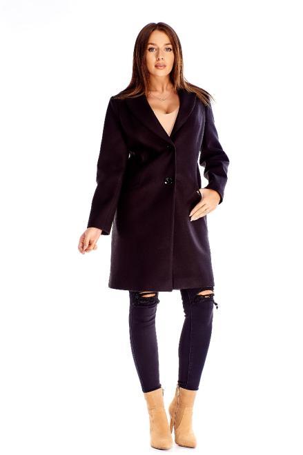 WOX  klasyczny jednorzędowy płaszcz M71164 Плащ Черный оптом