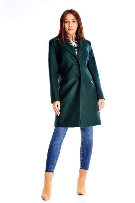 WOX  klasyczny jednorzędowy płaszcz M71164 Плащ Зеленый оптом