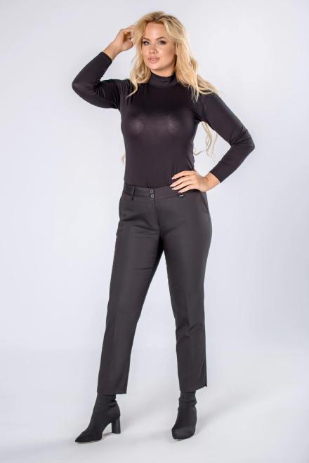 MADAM TRIS  spodnie cygretki z nogawkami w kant M81824 Брюки Черный оптом