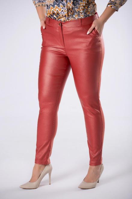 LENA  woskowane spodnie o dopasowanym kroju M82256 Брюки Красный оптом