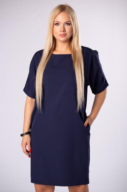 EXCLUSIVE  taliowana sukienka z rozcięciami na rękawach i kokardą na plecach M82022 Платье Темносиний оптом