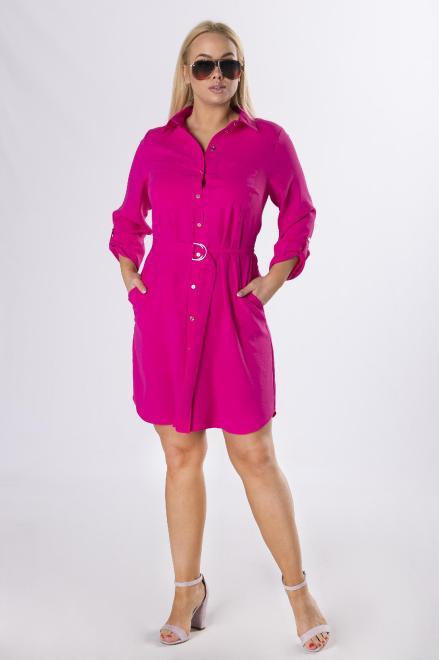 MARCELLO  koszulowa sukienka szmizjerka z wiązaniem w pasie M82092 Платье Розовый оптом