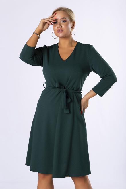 MODA DOROTHY  rozkloszowana sukienka z wiązaniem w pasie M82358 Платье Зеленый оптом